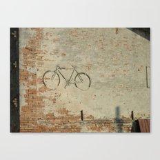 Bike in the wall Canvas Print