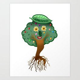 Warble Candy Digitree  Art Print