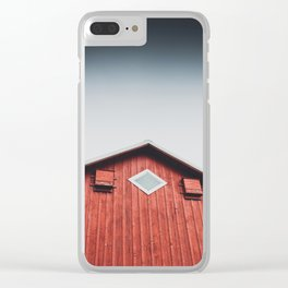 Barn Decor Clear iPhone Case