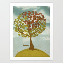 All Seasons Tree Art Print
