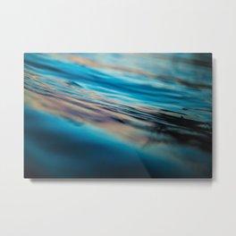 Oily Reflection Metal Print