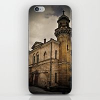 dark tower iPhone & iPod Skins featuring Dark Tower by Contrasens