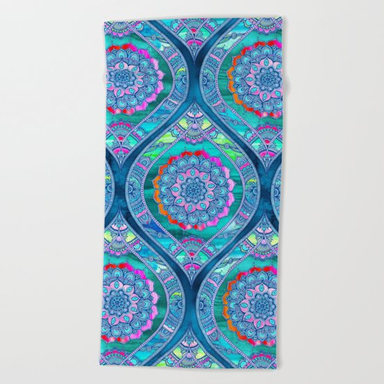 Radiant Boho Color Play Beach Towel