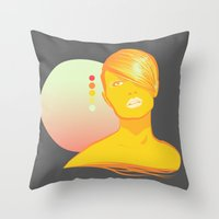 vodka Throw Pillows featuring Vodka Sunrise  by PKLdesigner