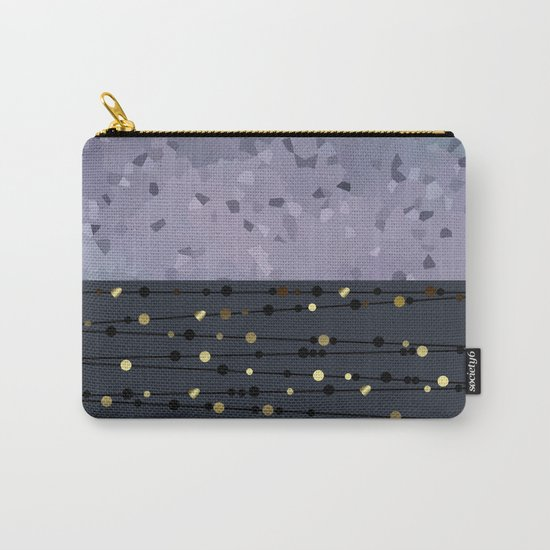 Pink-grey ,blue combo pattern . Carry-All Pouch