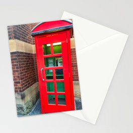 Red Phone Booth Stationery Cards