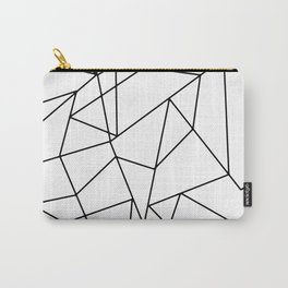 Simple Modern Black and White Geometric Pattern Carry-All Pouch