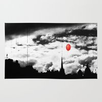 gotham Area & Throw Rugs featuring Gotham city by Anna Andretta