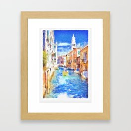 Venice - watercolor Framed Art Print