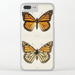 Monarch Butterfly Vintage Clear iPhone Case