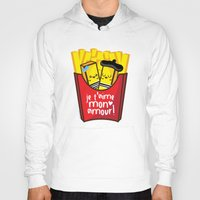 french fries Hoodies featuring French Fries by Kleviee