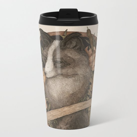 Friend Fox, Foe Fox Metal Travel Mug