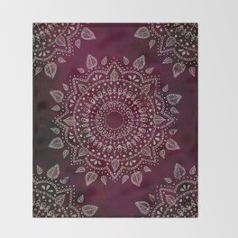 Wine Mandala Throw Blanket