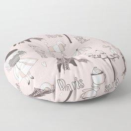 Paris Girl - Pink Floor Pillow