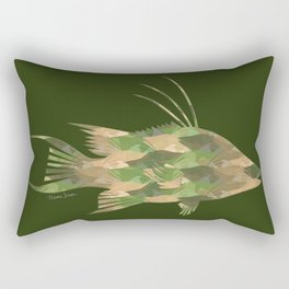 Scuba Deb's Camo Hogfish Rectangular Pillow