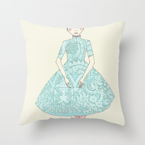 Decorative Pillow Placement : Third position Throw Pillow by Irena Sophia Society6