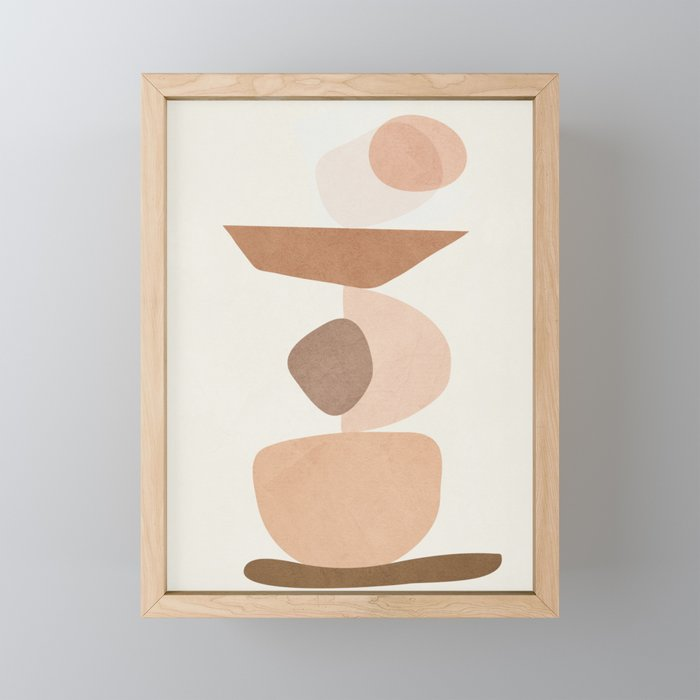 Balancing Elements II Framed Mini Art Print