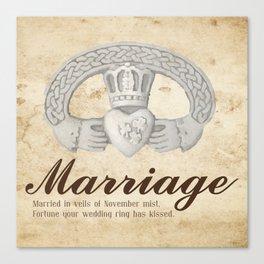 November Marriage Canvas Print