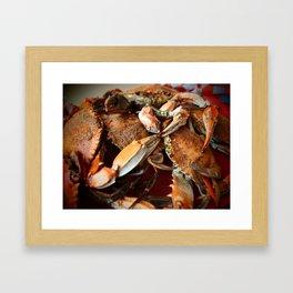 Maryland Crabs Framed Art Print