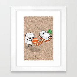 Sushi-sun Framed Art Print