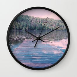 To the forest across the lake Wall Clock