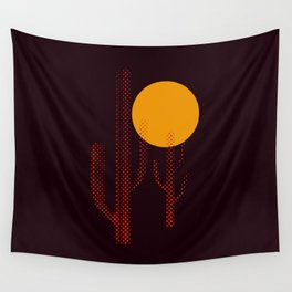 Red Hot Chili Cactus Wall Tapestry
