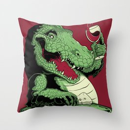 Party Croc Throw Pillow