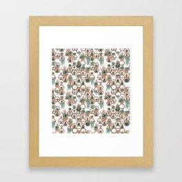 Christmas Succulent Garden. Echeveria, Cacti, plants, aloe vera, pachyveria, haworthia, holiday gift Framed Art Print
