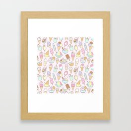 I love Ice Cream Framed Art Print