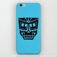 tiki iPhone & iPod Skins featuring Tiki by Nick Salmon