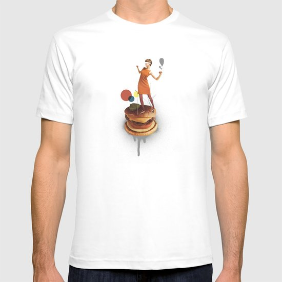 These Burgers Are Crazy | Collage T-shirt