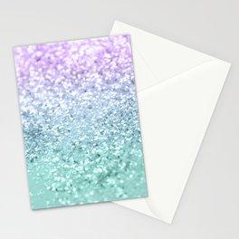 Mermaid Girls Glitter #1 #shiny #decor #art #society6 Stationery Cards