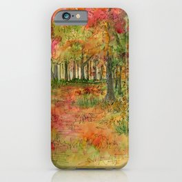 Autumn Woodlands iPhone Case