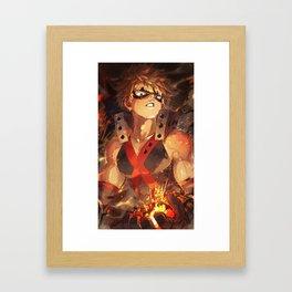 Boku no hero Framed Art Print