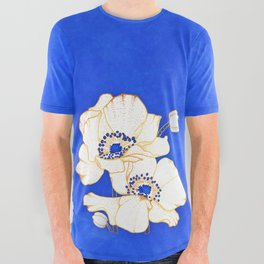 Ultramarine Blue :: Anemones All Over Graphic Tee