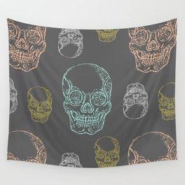 Flirty Skulls Wall Tapestry