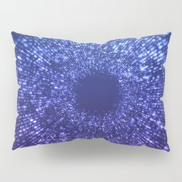 Sci Fi Abstract Outer Space Universe  Mystic Blue Pillow Sham