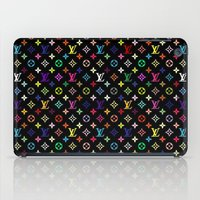 lv iPad Cases featuring COLORFULL LV PATTERN LOGO by BeautyArtGalery
