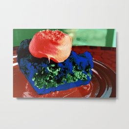 Piece of the Pie Split Complimentary Red-Orange Blue Green Metal Print