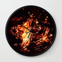 Burning Memoirs Wall Clock