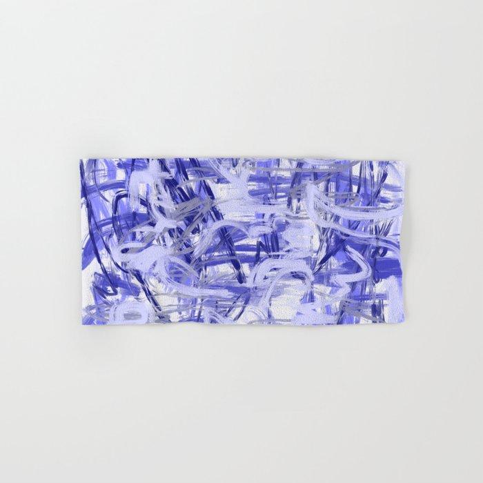 Light Blue Violet Abstract Hand & Bath Towel