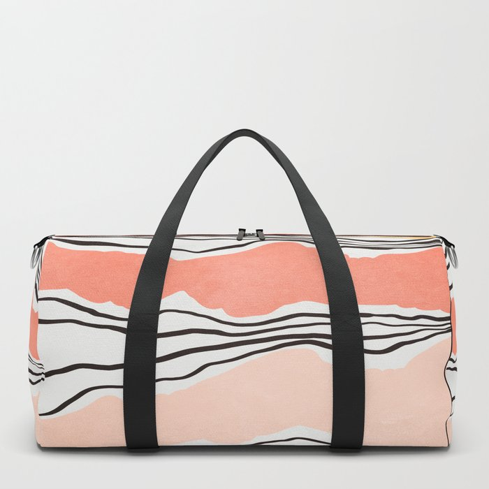 Modern irregular Stripes 01 Duffle Bag