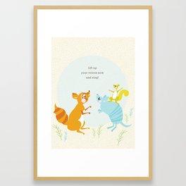 sing (blue) Framed Art Print