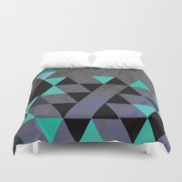 cracked Duvet Covers featuring Cracked Metal by Bakmann Art