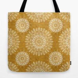 Vintage Mandala on Gold Tote Bag