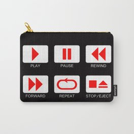 Music Player Button Carry-All Pouch
