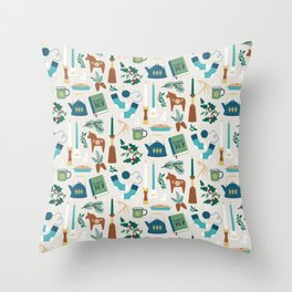 A Very Hygge Holiday Throw Pillow