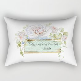 Aristotle Quote Rectangular Pillow