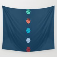 fruits Wall Tapestries featuring Fruits by Yasmina Baggili