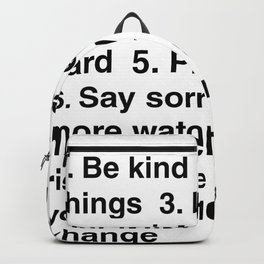 House Rules Backpack